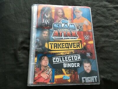 WWE Slam Attax Takeover Complete set 100% in folder 299/299