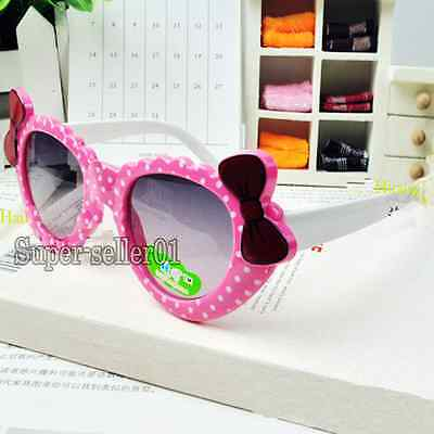 Lovely kids sunglasses for children safety goggles bow parim UV 400 Cute Hot
