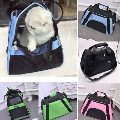 Large Pet Carrier Soft Sided Cat Dog Puppy Comfort Travel Tote Bag Folding Cage