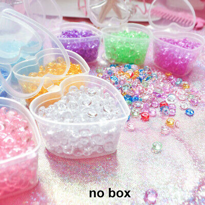 Fishbowl Colorful Balls Crystal Flat Beads Vase Balls Charms Filler Particles