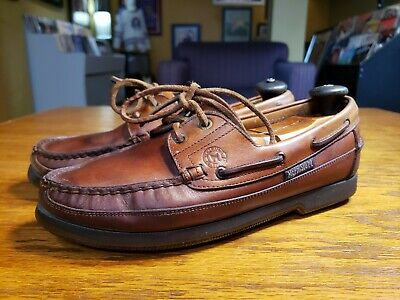 228cb78264e Mephisto Hurrikan Spinnaker Mens Brown Leather Boat Shoes 2 Eye Deck Size  8.5