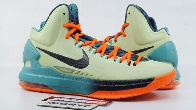 1899d6591697 Nike Kd V Kevin Durant Used Size 9.5 Area 72 All Star Lime Crimson 583111-