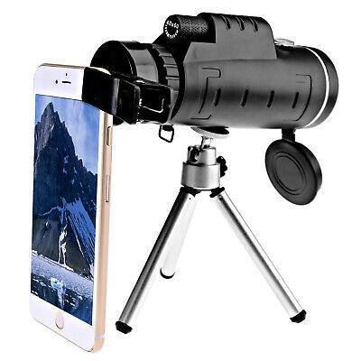 40x60 Optical Zoom Lens + Clip + Tripod Telescope For Mobile Cell Phone Camera