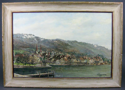 """""""Dutch Seascape"""" By Listed Antonius Timmermans Antique Signed Oil Painting."""