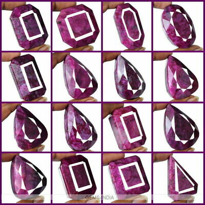 4815 Ct(Approx 1 Kilo )16 Pcs Natural African Red Ruby Mix Cut Gem Wholesale Lot