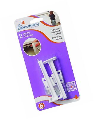 Dreambaby Cabinet Door / Drawer Safety Catches - 2 pack
