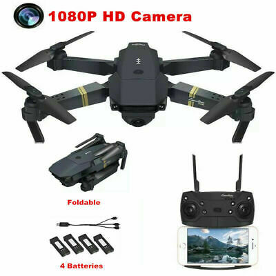 2.4G 4CH Drone X Pro FPV Wifi Selfie 1080P Camera Quadcopter Extra 3 Batteries