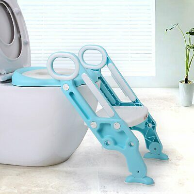 Potty Training Seat Kids with Step Stool Ladder for Child Toddler Toilet Chair