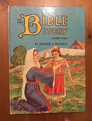The Bible Story By Arthur S Maxwell HC 1954 V. 3 Review & Herald Pub. Vintage