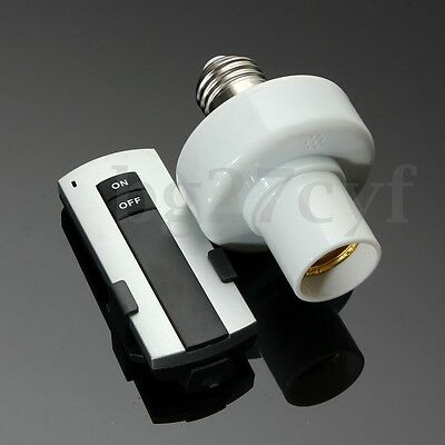 E27 Screw Light Lamp Bulb Holder Cap Socket Switch With Wireless Remote  TOP