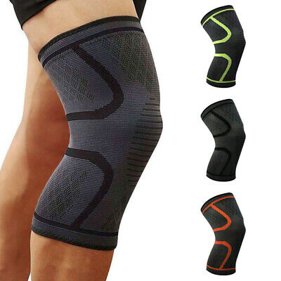 Knee Support Brace Compression Sleeves Running Sports Gym Leg Patella Protector