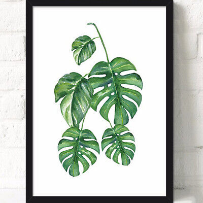 Green Plants Canvas Art Print Poster Leaf Painting Wall Pictures Home Decor New