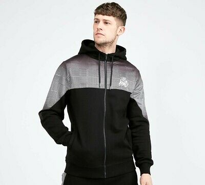 Kings Will Dream KWD Mens New Tracksuit Top Full Zip Hoodie Black Ardwall