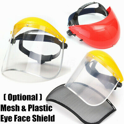Flip Up Faceshield Screen Full Wide Visor Safety Mask Eye Guard Protector