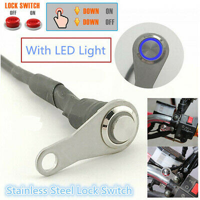 LED Motorcycle Switch ON/OFF Handlebar Mount Push Button For Fog Light Headlight