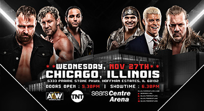 AEW WRESTLING TICKETS Wed, November 27, 2019 SOLD OUT! SEARS CENTRE HISTORIC