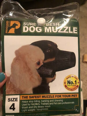 NEW Proguard Sure-Fit Dog Muzzle Mesh - Size 4