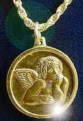LOOK Cupid Roman God Of Love Gold plated Charm real silver