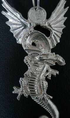 COOL Big Huge Fire breathing Dragon Pendant Charm New Sterling Silver .925 Jewel