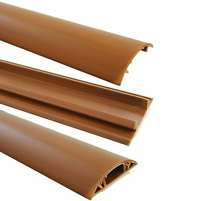 Floor Cable Channel 1m Self Adhesive 40mm Wide for Dark Laminate Flooring