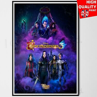Descendants 3 Poster 2019 Art Print Movie Disney Channel | A4 A3 A2 A1 |