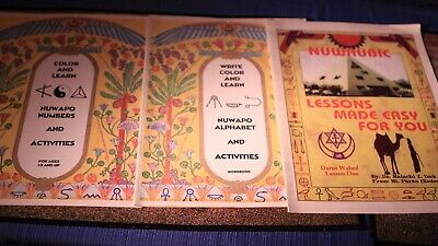 Nuwaubic Numbers Alphabet Lessons Activities in 3 RARE FINDS