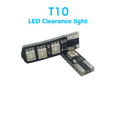 10 pcs/lot Car T10 LED clearance light Width light 12V 5W Ice blue color