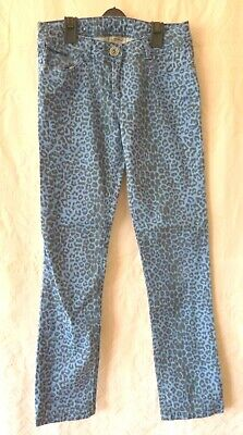 Next Girl's Skinny Jeans Blue Leopard Print Fit 12 Years 152 cm