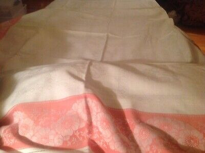 """Vintage collectible linen tablecloth approximately 52"""" x 60"""""""