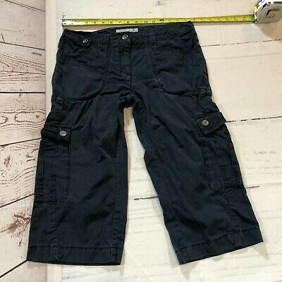 FAT FACE Women Combat Cargo Hiking Style Cropped Pants Size 10 Dark Blue - D107