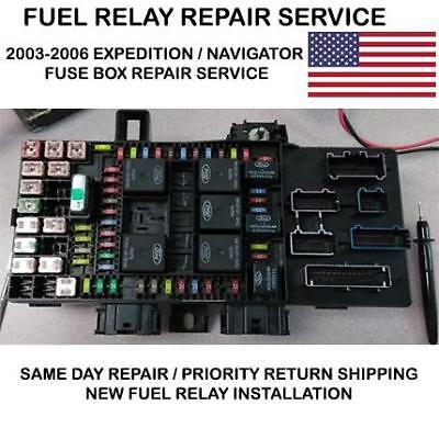2004 Ford Expedition  Fuse Box REPAIR SERVICE Fuel Pump Relay Repair PLEASE READ