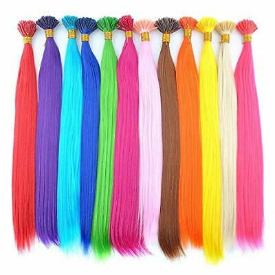 """18"""" Synthetic Hair Feathers - Extentions - FREE Micro Beads - Pick & Mix Colours"""