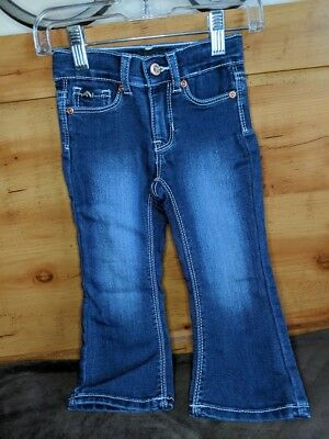Clothing, Shoes & Accessories Girls' Clothing (newborn-5t) Cherokee Toddler Girls Jeans Stretch Waist Dark Blue Size 2t Nwt