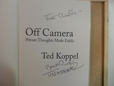"Nightline Ted Koppel Signed Book ""Off Camera""-First Edition-Copyright 2000"