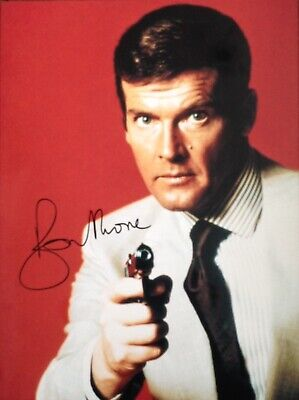 Roger Moore Authentic Signed James Bond 16X12 Photo Aftal#198