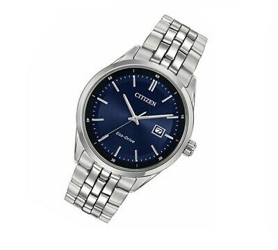 *BRAND NEW* Citizen Men's Eco-Drive Blue Dial Stainless Steel Watch BM7251-53L