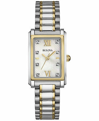 *BRAND NEW* Bulova Women's Diamond Accent Silver and Gold Tone Watch 98P144