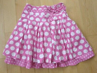 Next Skirt Pink and White Polka Dot Fit Age 8 Years 100% Cotton Lightly Used