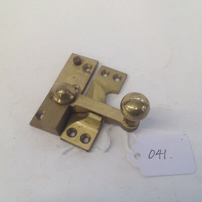 Salvaged Sash Window Catch  New Old Stock In Good Order With Keep Polished Brass
