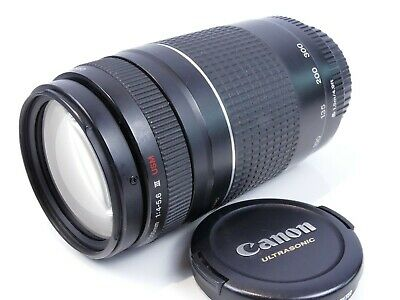Canon Ef 75-300Mm F4 / 5.6 Usm Iii Zoom Lens Film & Digital Eos Full Frame Boxed