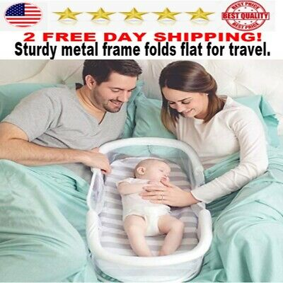 SwaddleMe By Your Side Sleeper bed for baby pad gray set portable NEW BEST