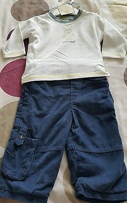 New Baby Boys Outfit Size 6-9 Months Marks And Spencer