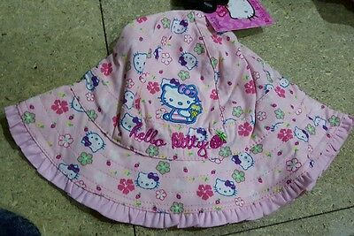 New Lovely  Hello Kitty London Sun Hat 18 Months-3 Years New Marks And Spencer