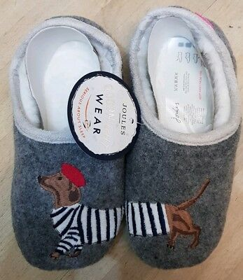New Joules Girls Slippers Dachshund Design Size 12-13 Medium Infant