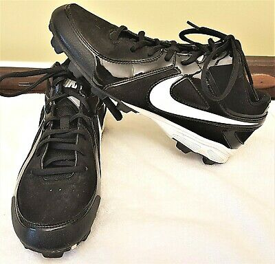 huge selection of 0471c a0990 Size 8 NIKE MVP Keystone Black BASEBALL CLEATS Boys Power Channel Lace Up Sz