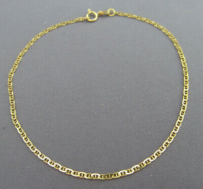 1b68667637e8e VINTAGE 14K Yellow Gold Oval Chain Bracelet Designer Signed Milor ...