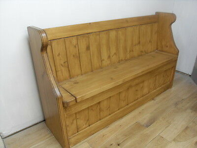 Monks Bench - Settle - Church Pew 4/5/6/7 ft - Antique Oak / French Oak - Formby