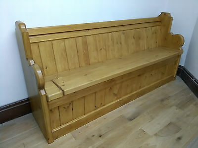 Monks Bench - Settle - Church Pew - 4/5/6/7 ft - Antique Oak / French Oak Sefton