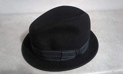 b27d9b6dd1937 Bailey Virgil Men s 100% Wool Center Dent Crown Fedora Hat Black Made In USA