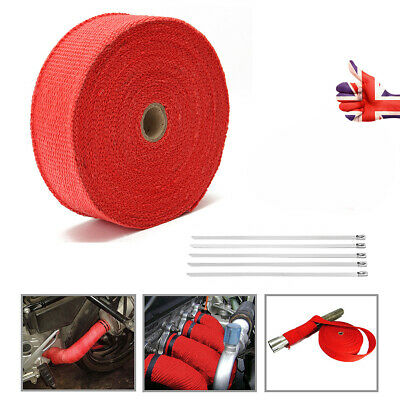 Exhaust Heat Wrap Exhaust Fiber Glass Heat Insulation Pipe Tape With Ties 10 m